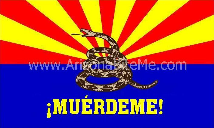Arizona Bite Me arizona gadsden spanish MUERDEME flag