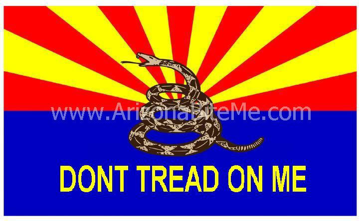 Arizona bite me gadsden Dont Tread On Me flag