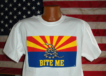 Arizona Bite Me gadsden don't tread on me tshirt t-shirt