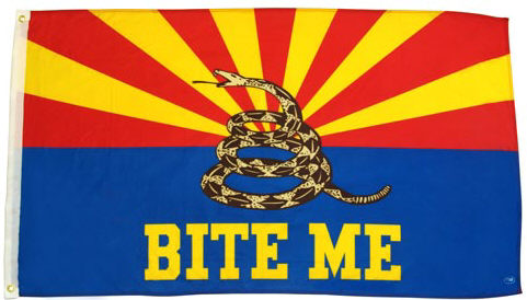 arizona bite me flag AZ gadsden dont tread on me flag